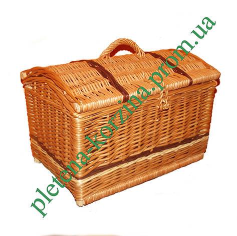 """Сундук плетеный из лозы """"пират"""" большой (длина 40см) Арт.558.1, фото 2"""