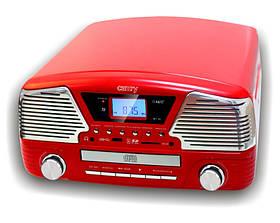 Стильный Грамофон  5в1 Проигрыватель CAMRY CR 1134 Радио CD USB Mp3  + Пульт