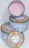Современный дизайн круглые подарочные коробки набор 3шт 20-20-11 см