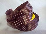 Лента атласная в мелкий горошек, 2,5 см ( 1 метр), фото 4