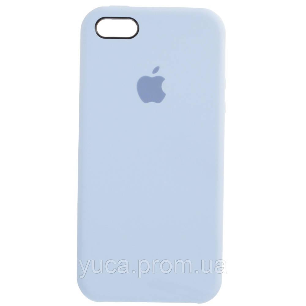 Чехол силиконовый для APPLE iPhone 5/5S/5C/5SE 05 светло голубой копия
