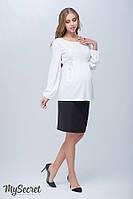 Прямая юбка для беременных Alma, из плотной костюмной ткани, черная