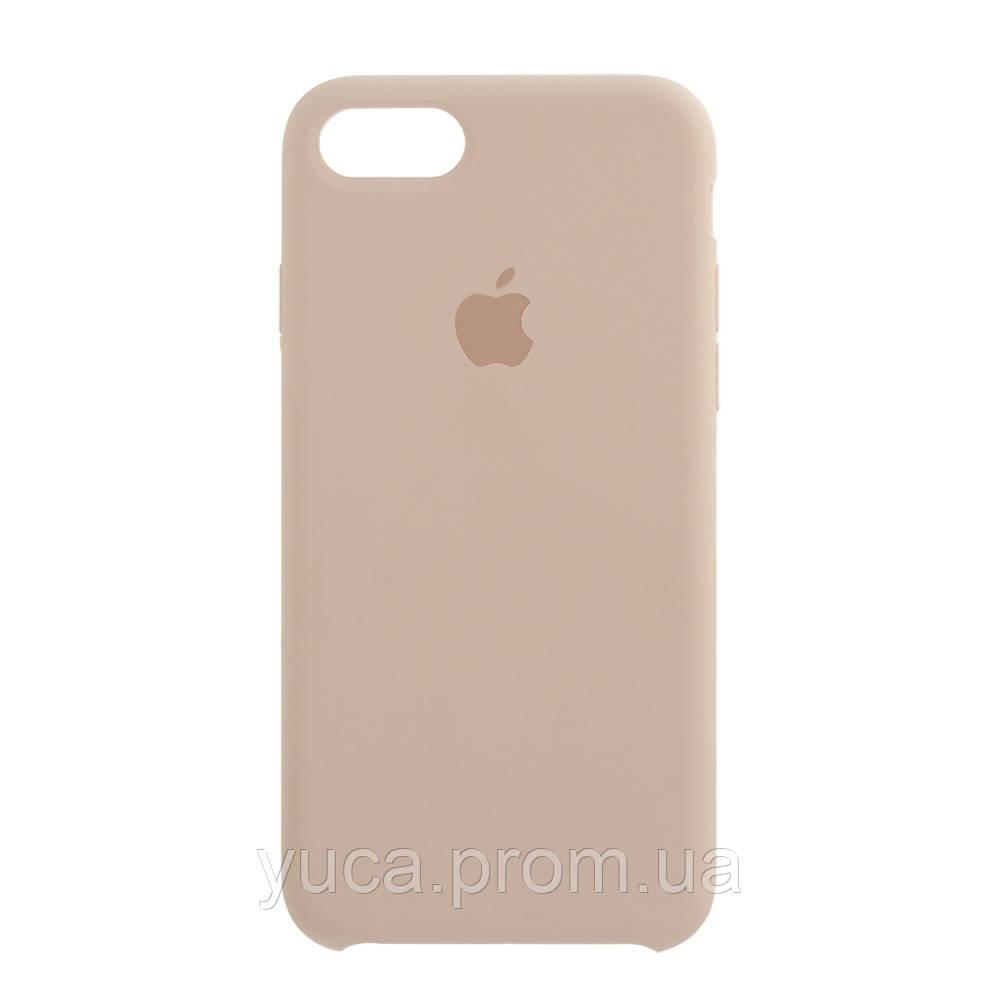 Чехол силиконовый для APPLE iPhone 7G 19 бледно-розовый копия