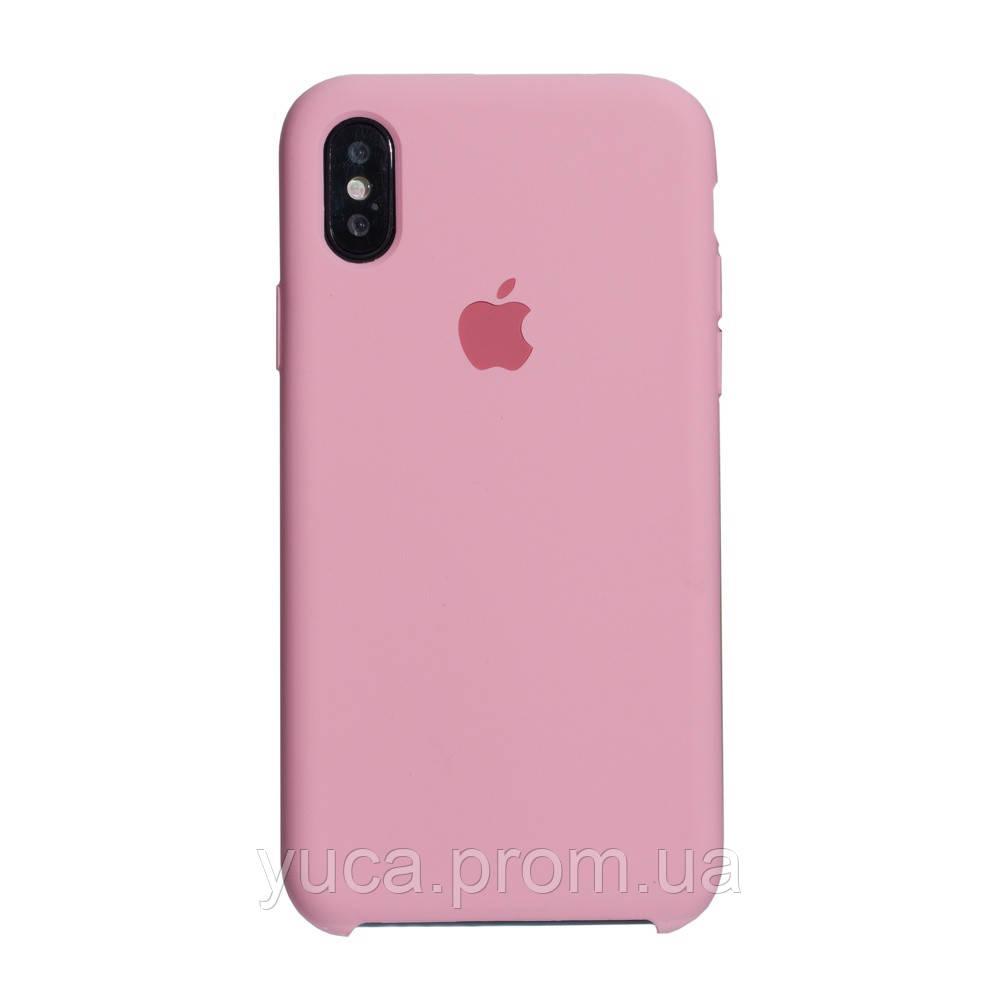 Чехол силиконовый для APPLE iPhone X /  Xs 06 розовый копия