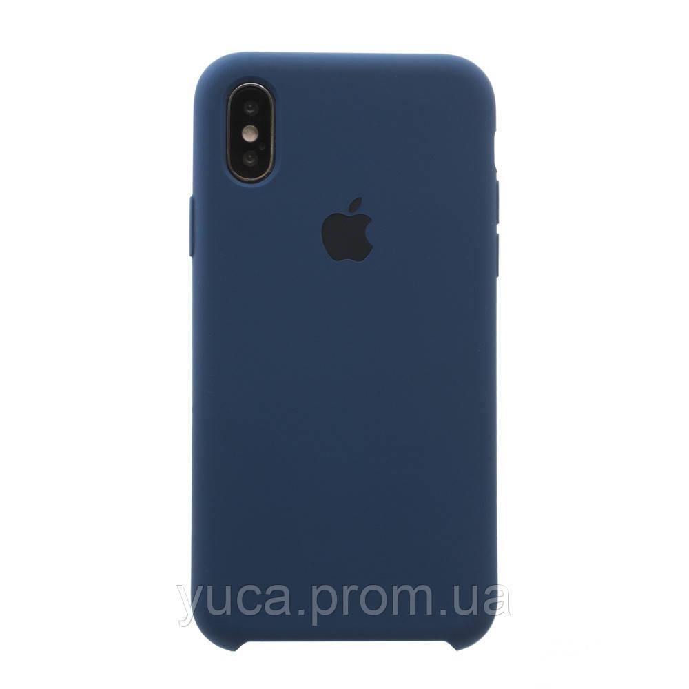 Чехол силиконовый для APPLE iPhone X /  Xs 36 тёмно синий копия