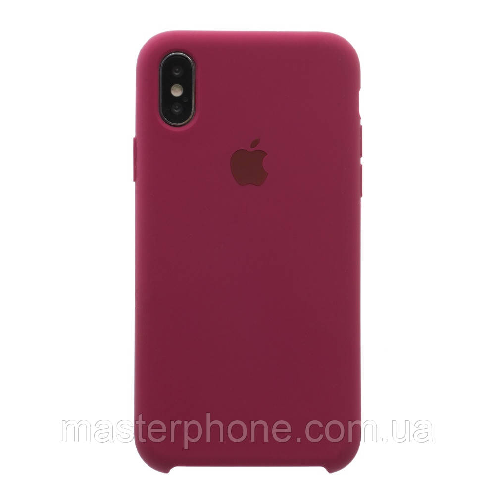 Чехол силиконовый для APPLE iPhone X /  Xs 37 малиновый копия
