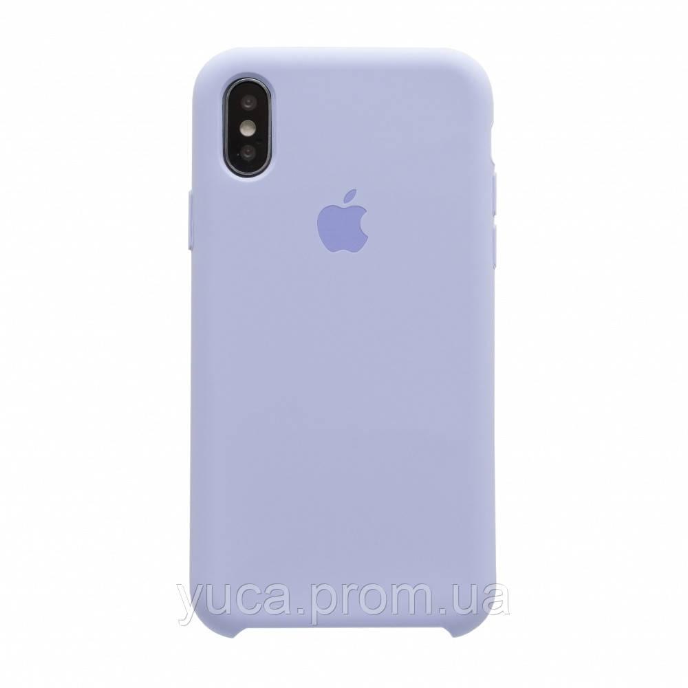Чехол силиконовый для APPLE iPhone X /  Xs 40 салатовый копия