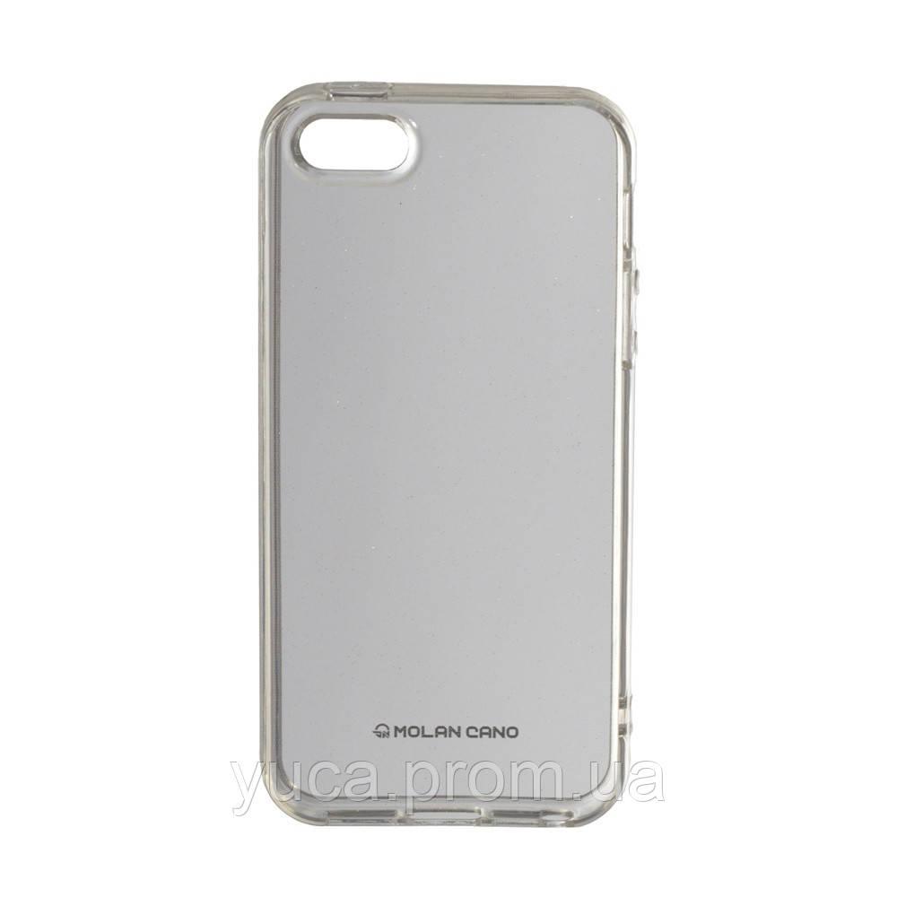 Чехол силиконовый для APPLE Iphone 5G Molan Shining 06 прозрачный