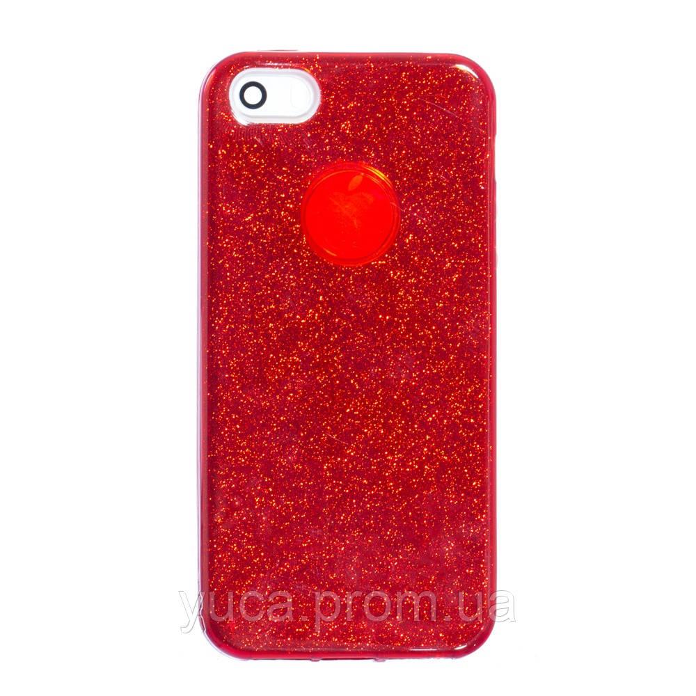 Чехол силиконовый для APPLE Iphone 5G Twins красный