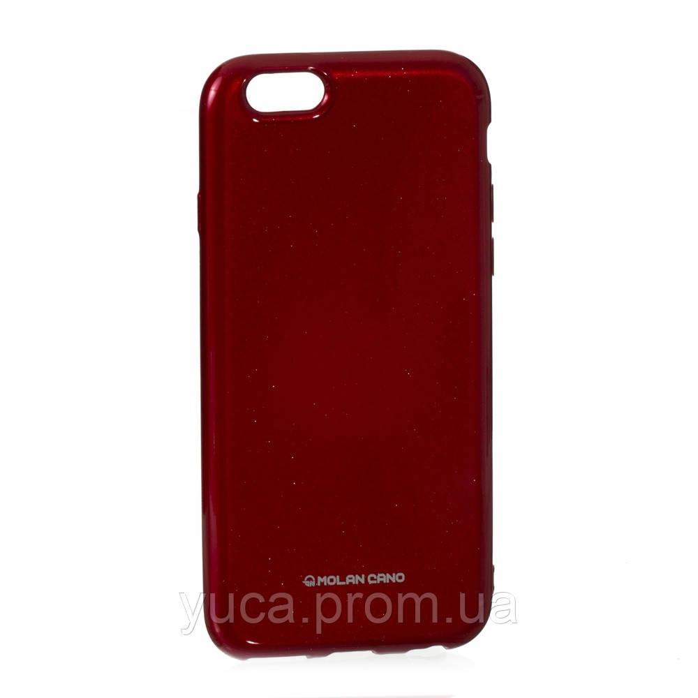 Чехол силиконовый для APPLE Iphone 6G Molan Shining 05 красный