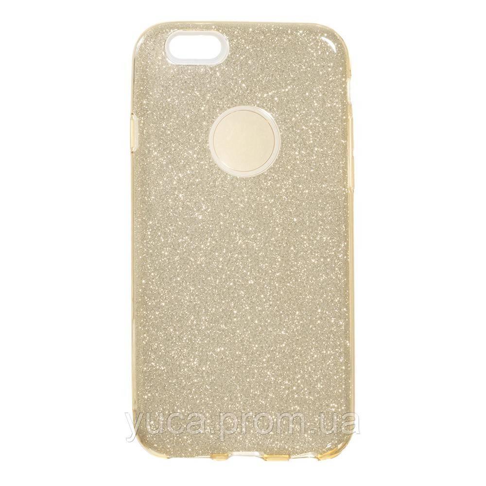 Чехол силиконовый для APPLE Iphone 6G Twins золотой