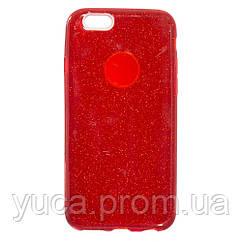 Чехол силиконовый для APPLE Iphone 6G Twins красный