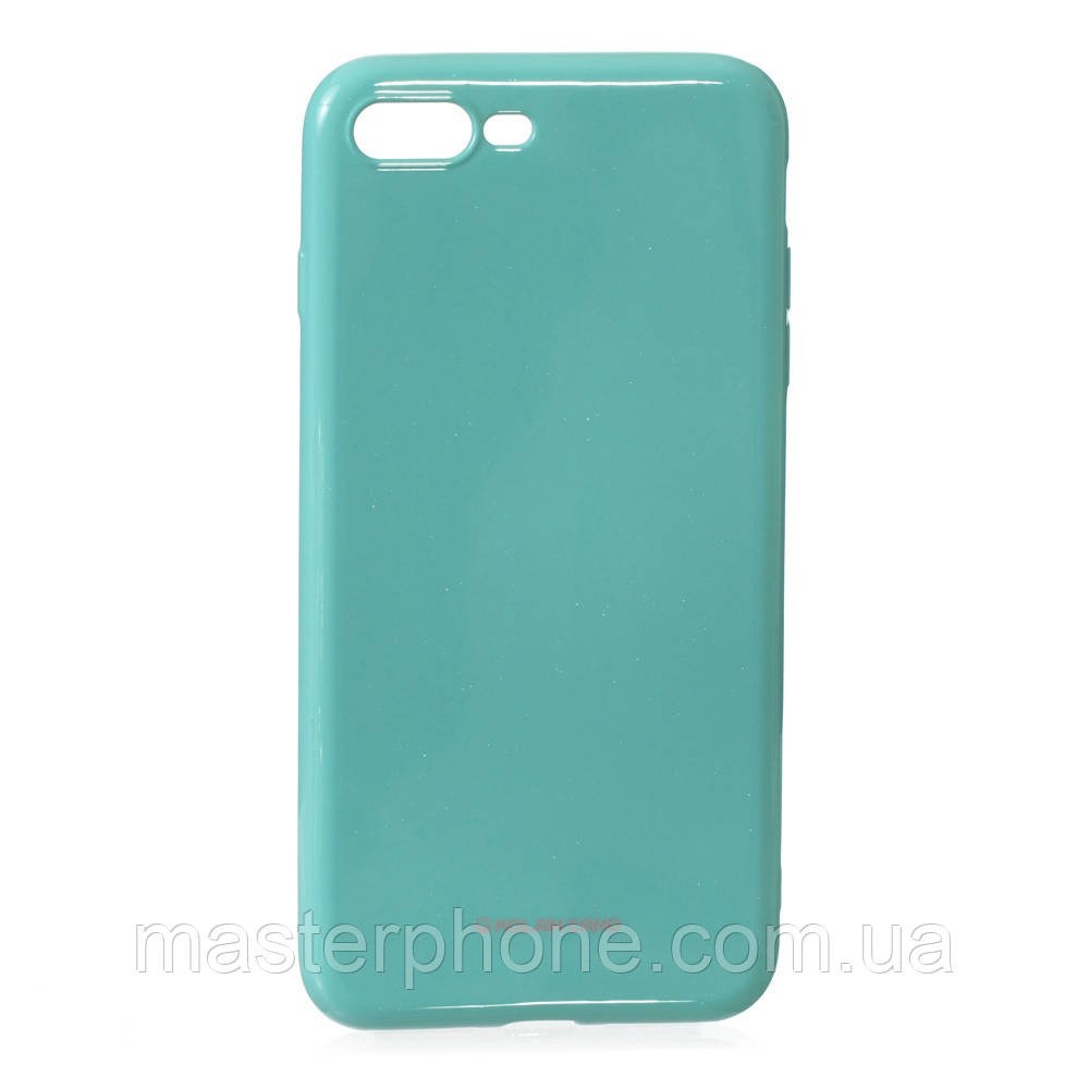 Чехол силиконовый для APPLE Iphone 7 Plus Molan Shining 02 бирюзовый