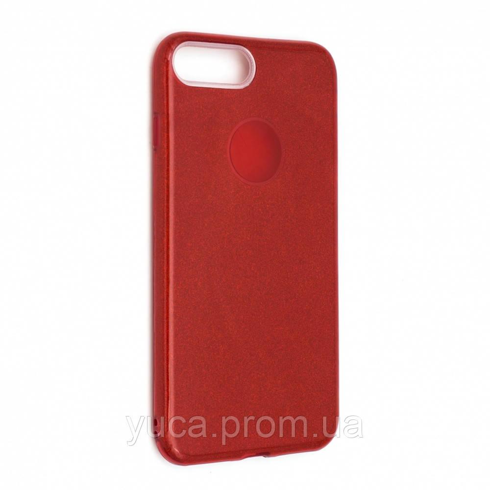 Чехол силиконовый для APPLE Iphone 7 Plus Twins красный