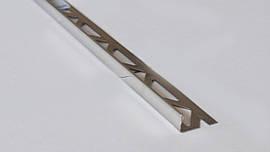 Г образный наружный уголок для плитки Pawotex 10 мм 2.5 м нержавеющая сталь ST10