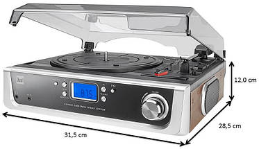 НЕМЕЦКИЙ TURNTABLE с динамиками и AUX IN RADIO, фото 2