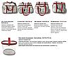 Набор из 2 прозрачных сумок в роддом Mommy Bag - S,L - Красные, фото 9