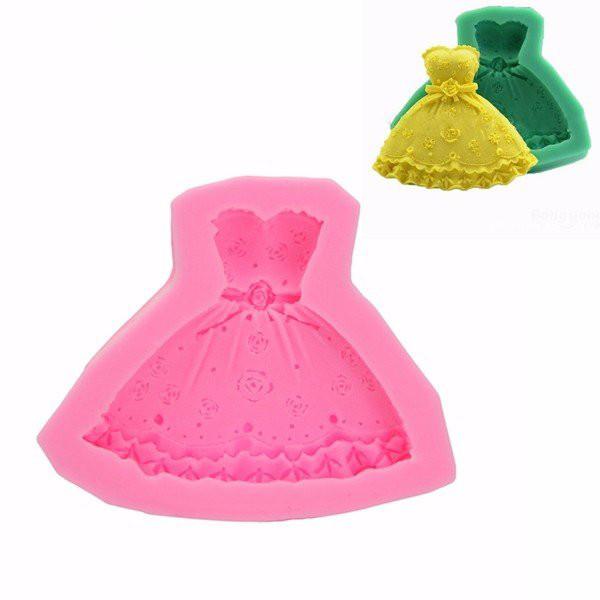 Свадебное платье Fondant прессформы торта силикона Декорирование Craft Сахар Шоколад Плесень 1TopShop