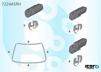 Резинка стекла лобового, Renault R9, Рено Р9