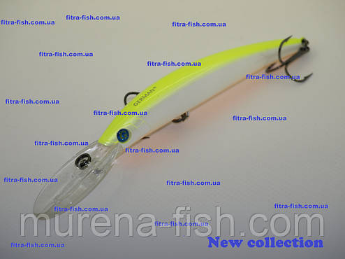 Воблер German GG Long 110mm C125 (action 0-3m+) 18g YO-ZURI CRYSTAL MINNOW DD, фото 2