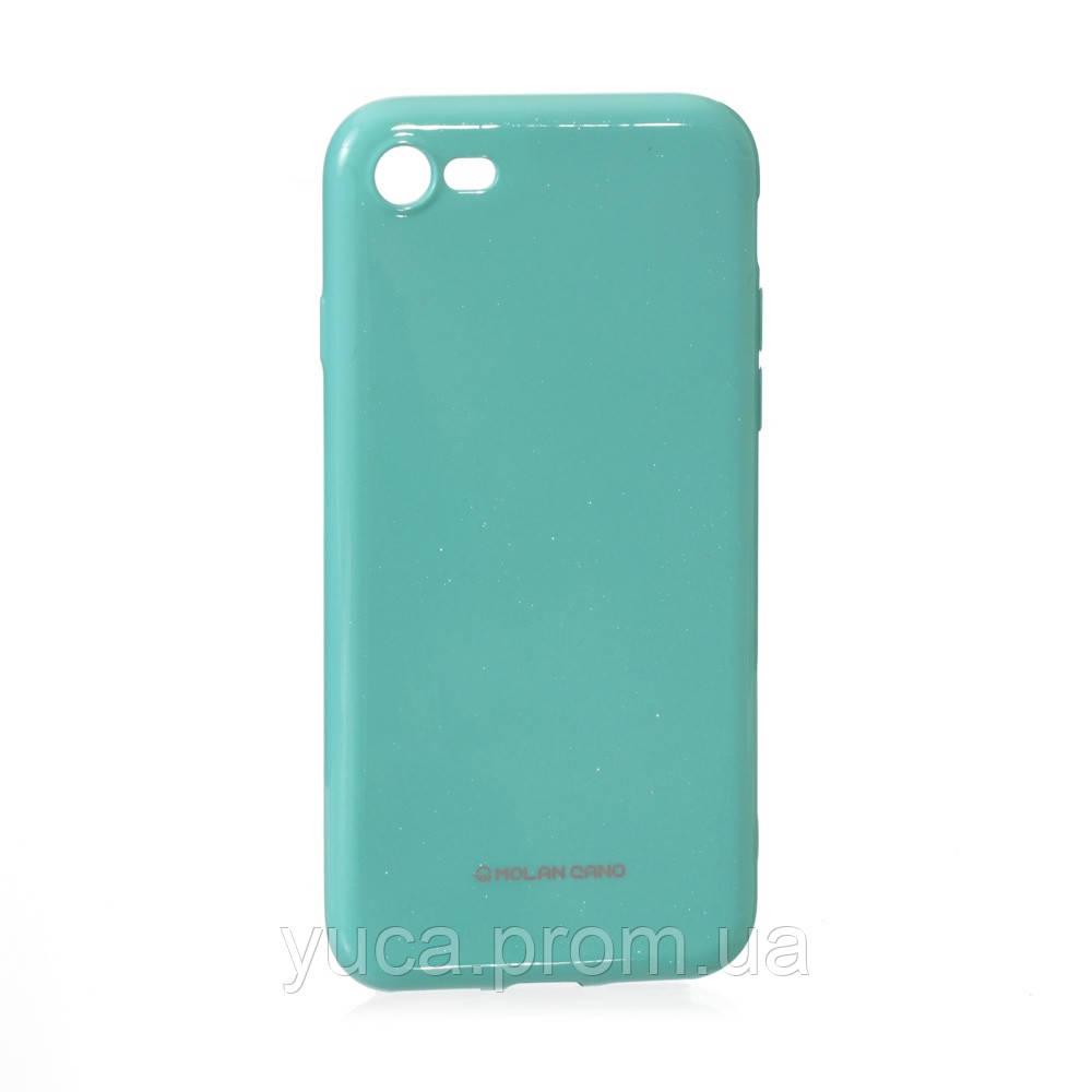 Чехол силиконовый для APPLE Iphone 7G Molan Shining 02 бирюзовый
