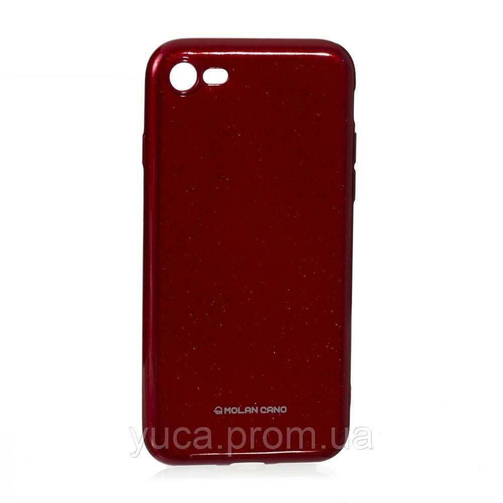 Чехол силиконовый для APPLE Iphone 7G Molan Shining 05 красный