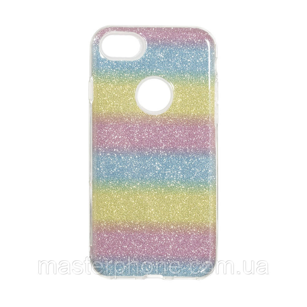 Чехол силиконовый для APPLE iPhone 7G Twins радуга