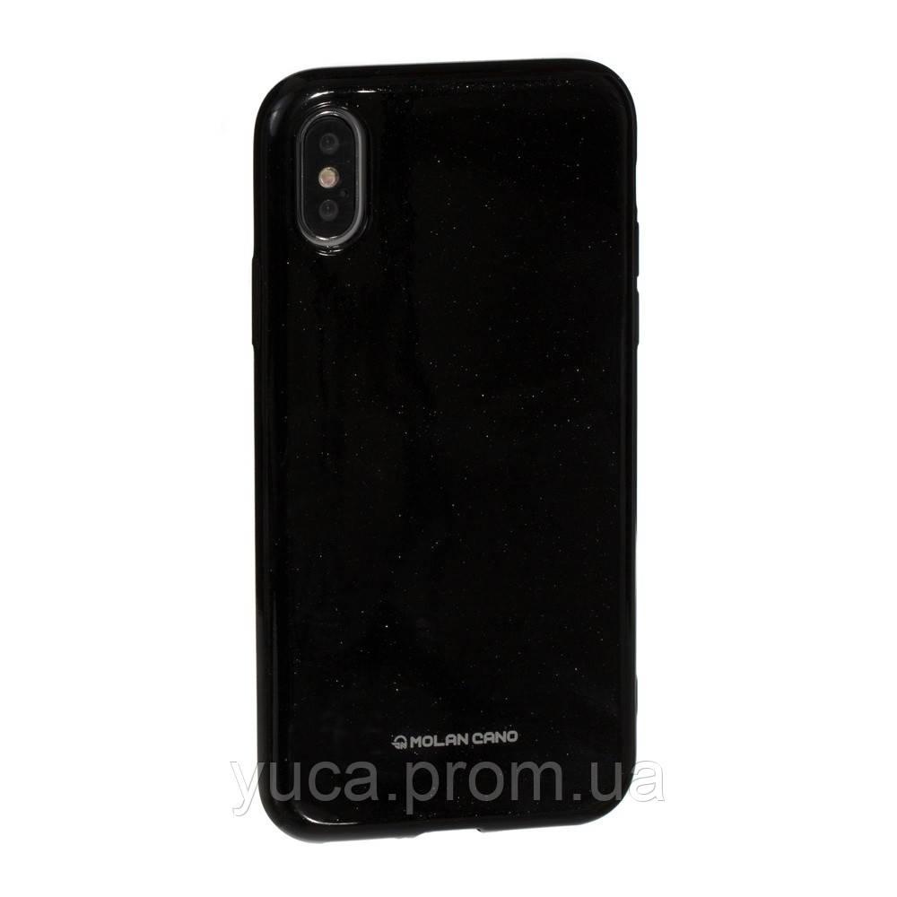 Чехол силиконовый для APPLE Iphone X Molan Shining 07 чёрный