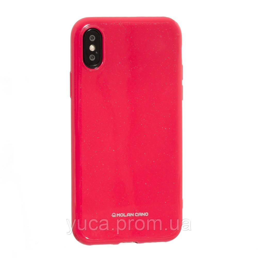 Чехол силиконовый для APPLE Iphone X Molan Shining 08 розовый