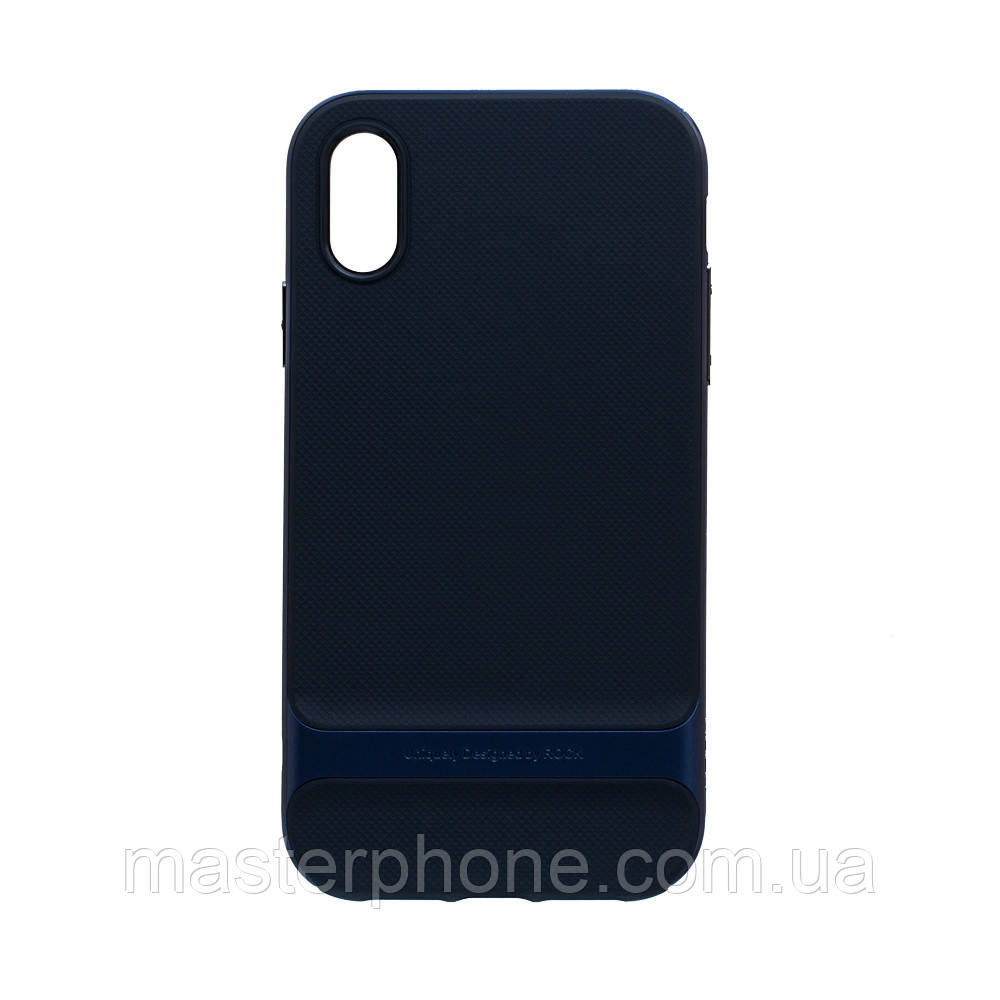 Чехол силиконовый для APPLE Iphone Xr Rock Royce чёрно синий