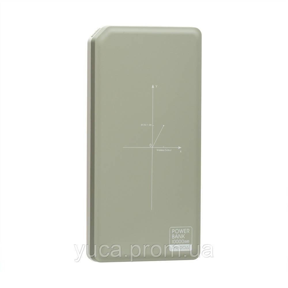 Power Bank с беспроводной зарядкой Remax 10000 mAh PPP-33 Chicon Wireless (Серый)