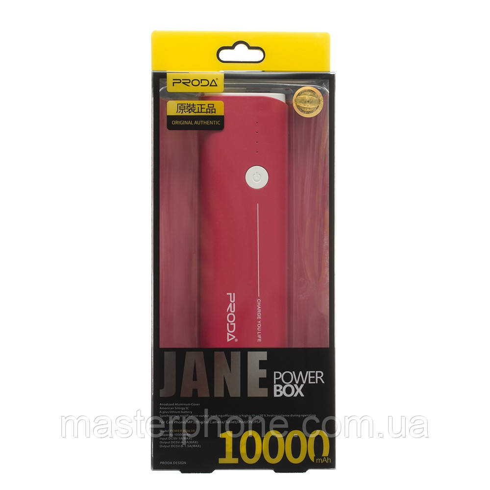 Power Bank Proda 10000 mAh Jane V6 / PPL-9 красный