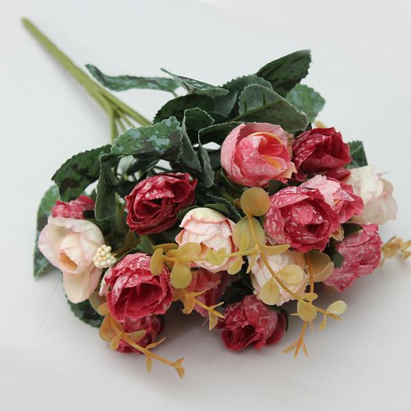 Искусственный букет роз партии украшение дома украшение сада 1TopShop