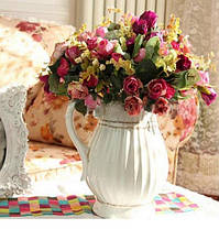 Искусственный букет роз партии украшение дома украшение сада 1TopShop, фото 2