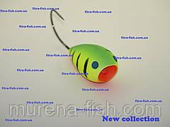 Воблер German Egg bait - хорватське яйце C008 55mm (action 0m+) 13g Bumble-lure Popper Поппер, фото 2