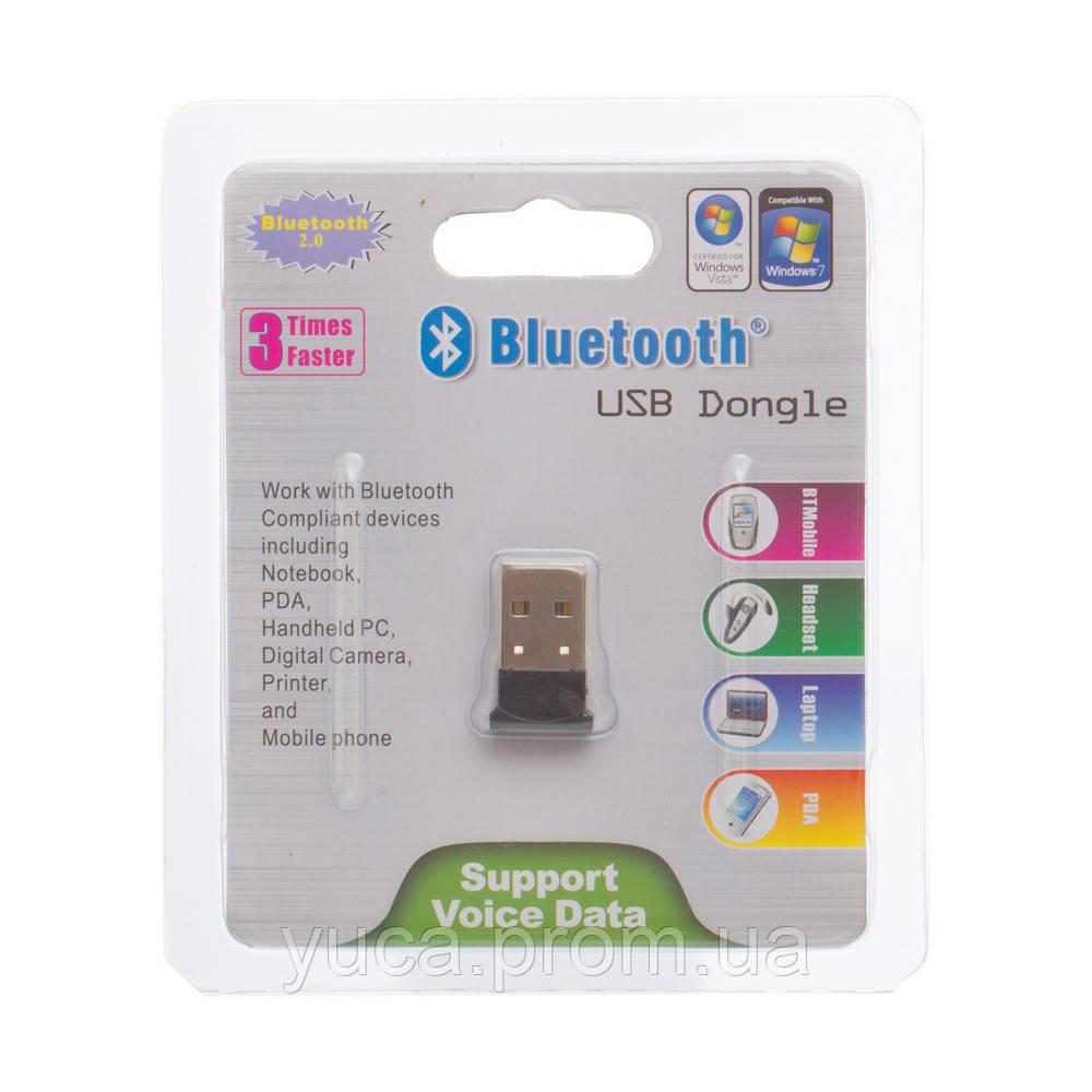 USB Bluetooth адаптер  слим 2,0 чёрный