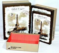 Прованс подарункові коробки Ейфелева вежа 3шт 30х21х10 см