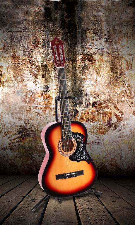 Классическая гитара 3/4 под металл нейлон + чехол!