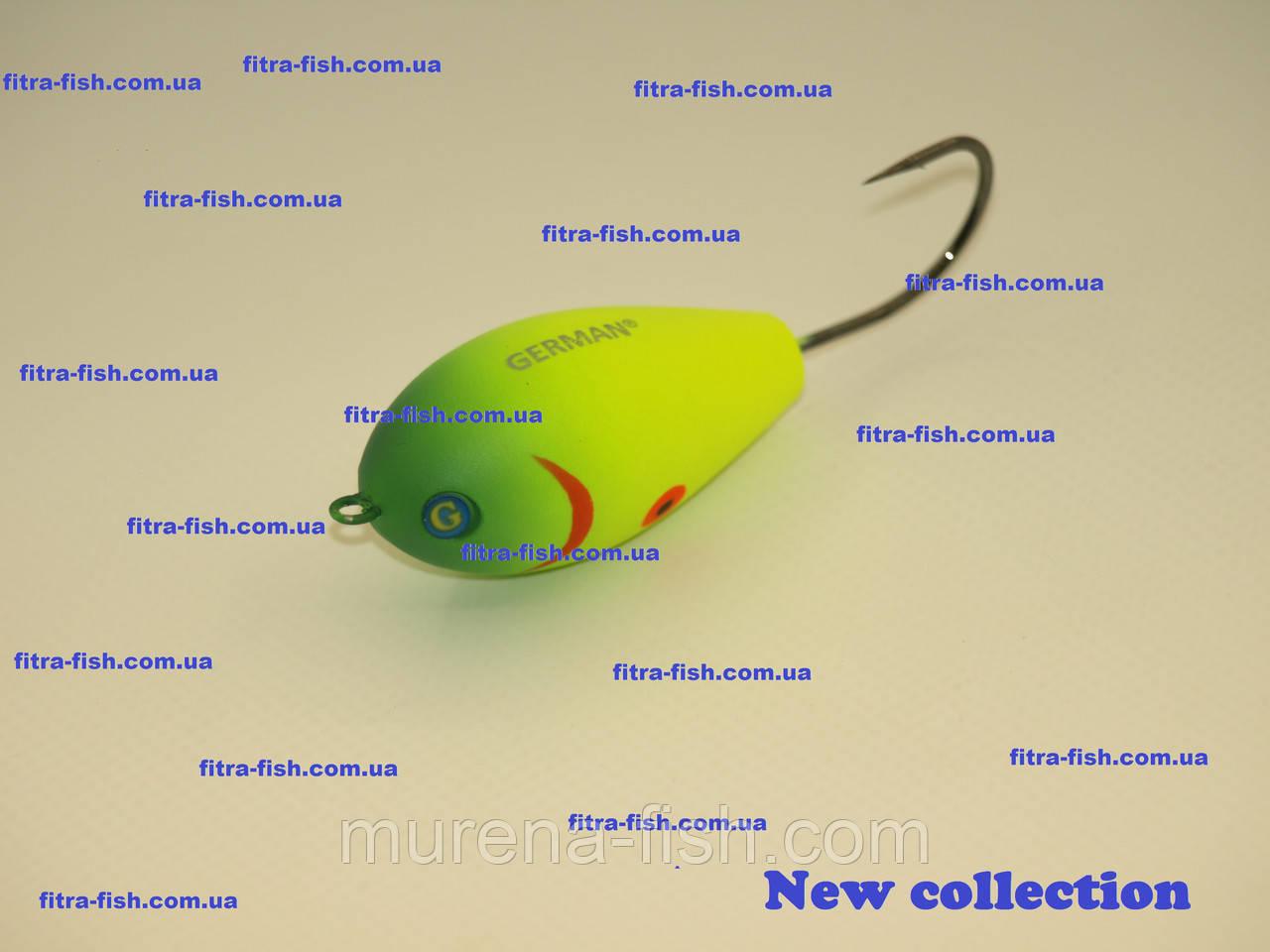 Воблер German Water Jumper- хорватское яйцо C112 50mm (action 0m+) 13g Bumble-lure Popper Поппер