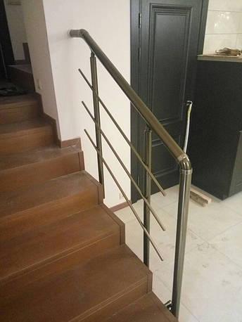 Перила алюминиевые круглые, бронза, фото 2