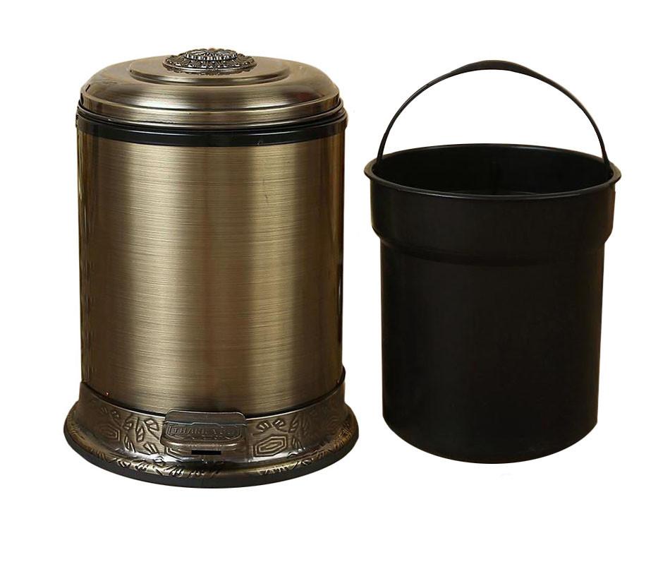 Бронзовое ведро для мусора Ametist 6 л.