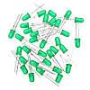 DC 5V Green DIY LED Электронный песочный блок Набор Пайка Модуль запасных частей для практики 1TopShop, фото 6
