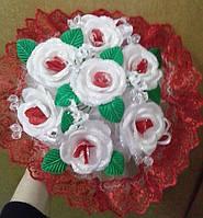Свадебный букет невесты (красный)