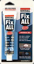 Клей-герметик SOUDAL FIX ALL 80 ml БІЛИЙ (покращена формула)