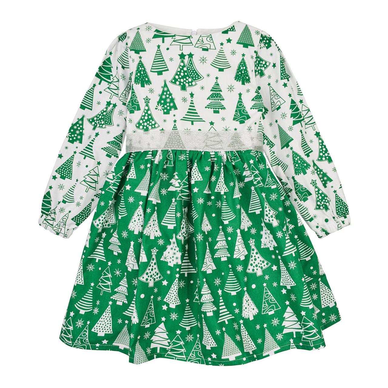 Платье новогоднее детское « Елочка длинный рукав»