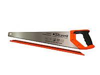 Ножовка по дереву 500 мм крупный зуб, 4 з/д, 2D Sturm 2100303