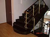 Перила алюминиевые круглые, цвет золото с леерами., фото 2