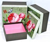 Подарочные коробки Прованс набор 3шт 20х20х10 см