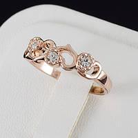 Вдохновляющее кольцо с кристаллами Swarovski в позолоте 0482
