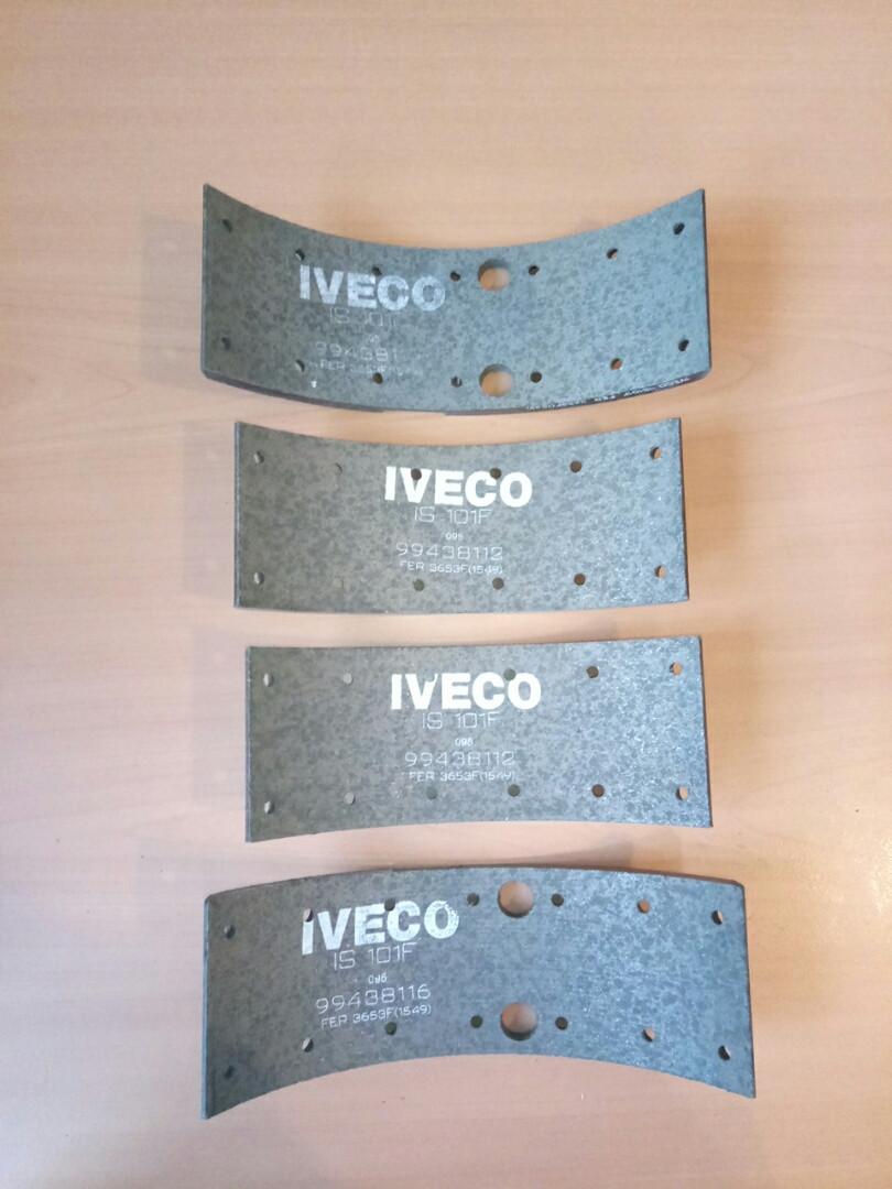 Гальмівні накладки Е-1 49-12 ш.80мм (Ремонт 1) IVECO 1906381